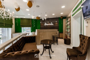 Дизайн интерьера холла для клиники «Медлайн».