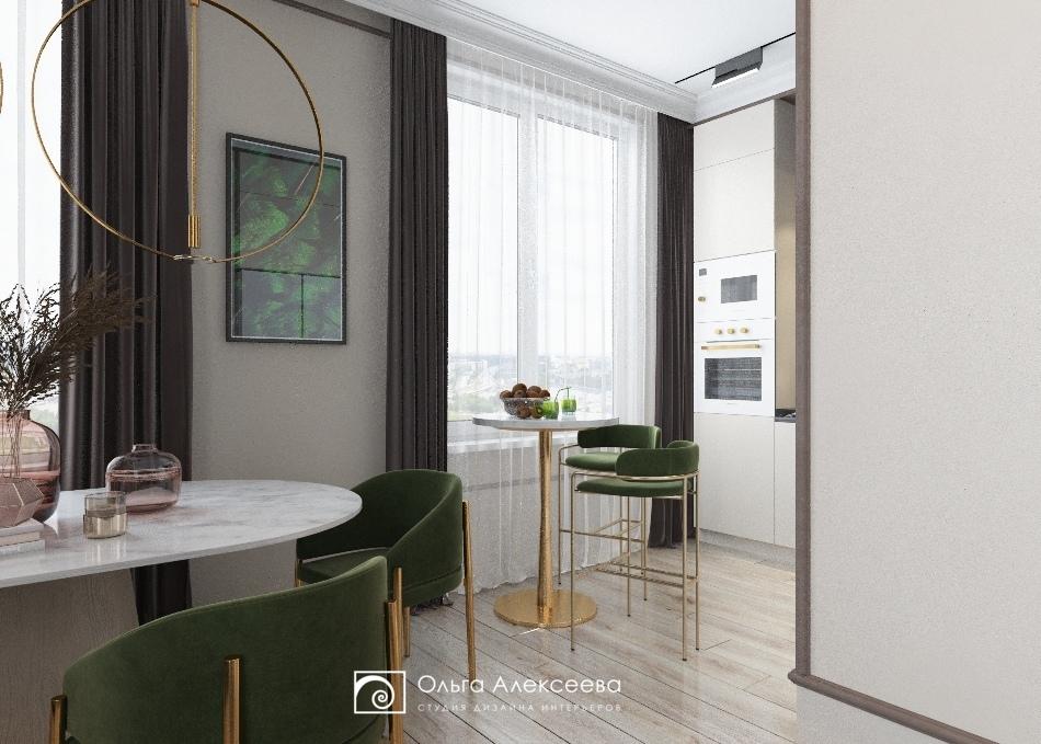 3 комнатная квартира с кухней гостиной