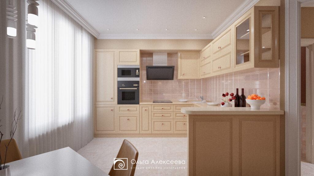 Кухня в двухкомнатной квартире